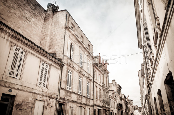 Street view of old town in bordeaux city Stock photo © ilolab