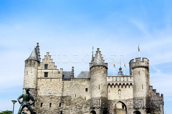 National Maritime Museum at the castle Het Steen in Antwerp, Bel Stock photo © ilolab