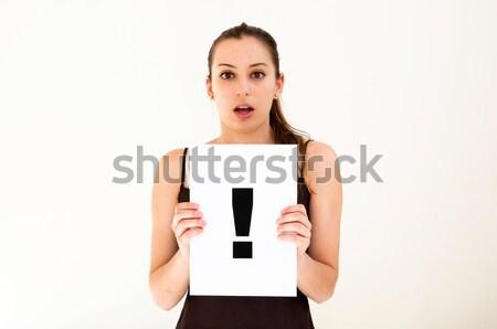 Сток-фото: женщину · совета · точки · портрет · знак