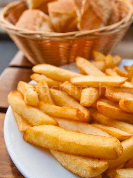 Or frites françaises pommes de terre prêt repas restauration rapide Photo stock © ilolab