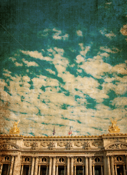 Opera Parijs een bouwkundig stad reizen Stockfoto © ilolab