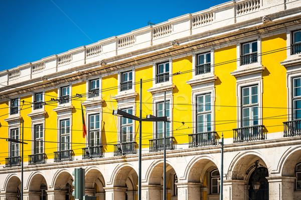 Beautiful street view of historic architectural in Lisbon, Portu Stock photo © ilolab