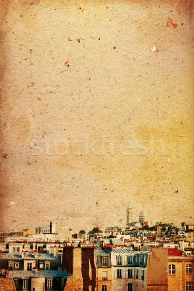パリ フランス スペース 文字 画像 紙 ストックフォト © ilolab
