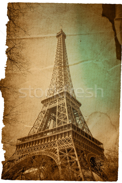 Paris Tour Eiffel France espace texte image Photo stock © ilolab