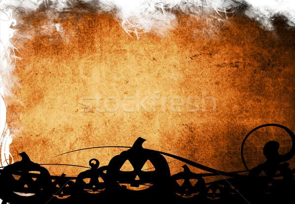 Halloween pumpkins with pumpkin friends Stock photo © ilolab