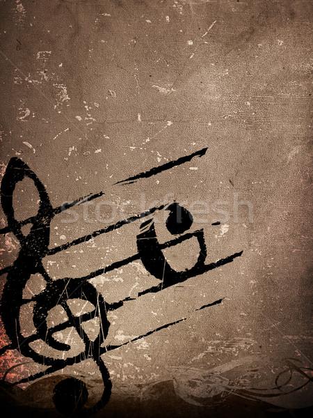 Grunge melodia texture abstract sfondi spazio Foto d'archivio © ilolab