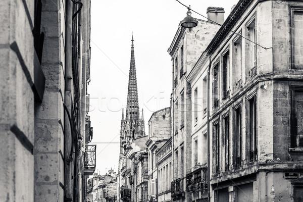 Vista de la calle barrio antiguo ciudad Francia Europa Foto stock © ilolab