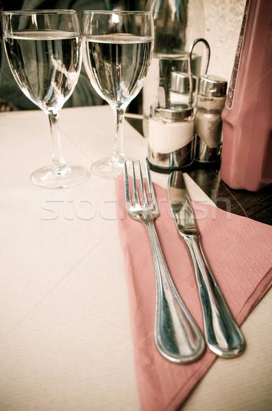 Tavola piatto coltello forcella ristorante pranzo Foto d'archivio © ilolab
