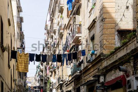 Foto stock: Vista · para · a · rua · cidade · velha · Nápoles · cidade · Itália · europa