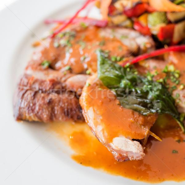 Fransız mutfağı Özel akşam yemekleri mutfak fransız yemek Stok fotoğraf © ilolab