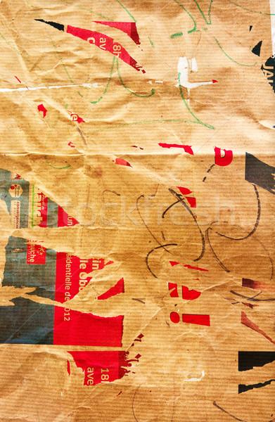 古い みすぼらしい 紙 テクスチャ ヴィンテージ コピースペース ストックフォト © ilolab