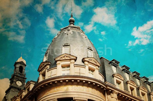 Antigo cidade Paris europa céu Foto stock © ilolab