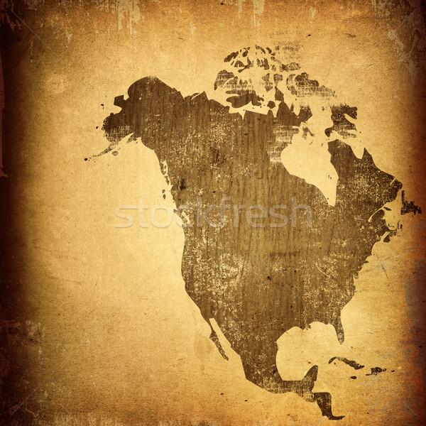 aged America map-vintage artwork Stock photo © ilolab