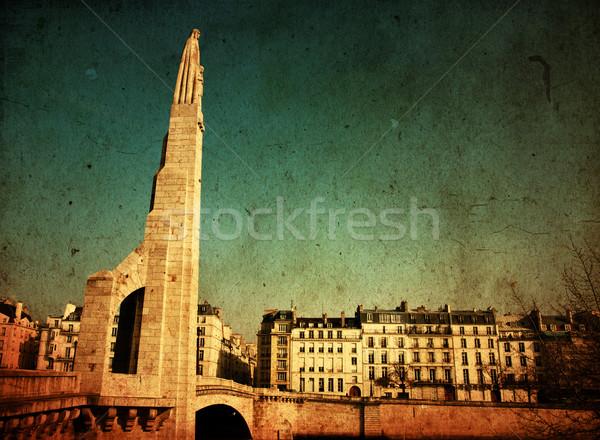Photo stock: Paris · France · espace · texte · image · papier