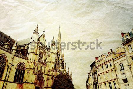 Retró stílus párizsi utcák űr szöveg kép Stock fotó © ilolab