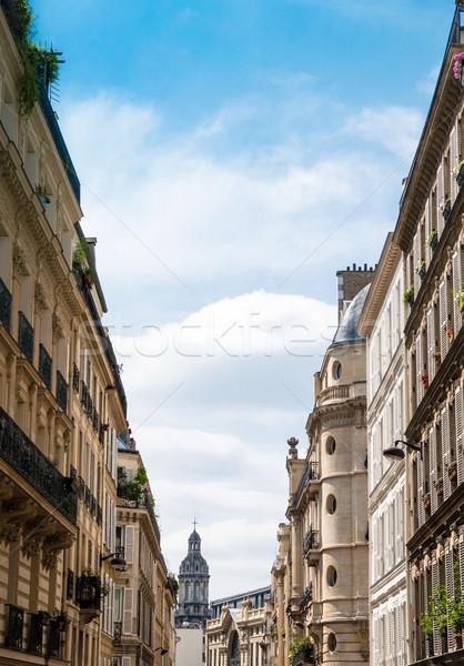 Párizs Európa épület papír tapéta klasszikus Stock fotó © ilolab