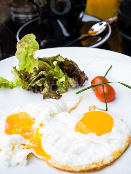 Preparado ovo sol comida jantar prato Foto stock © ilolab