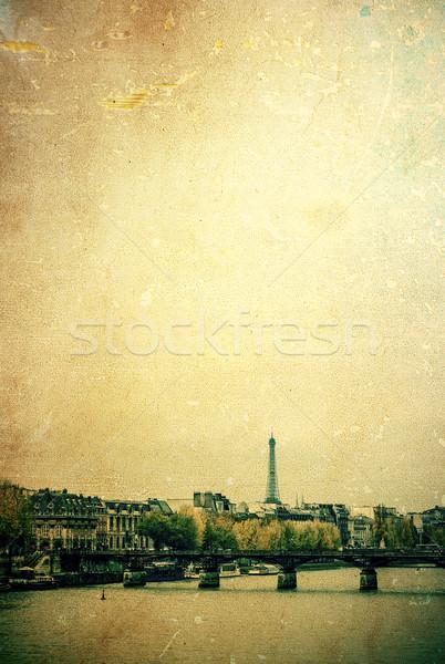 здании Европа красивой парижский Sunshine улиц Сток-фото © ilolab