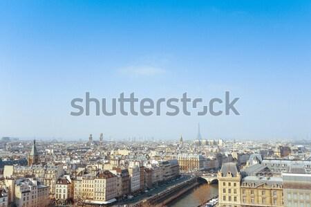Eski moda Paris Fransa uzay metin görüntü Stok fotoğraf © ilolab