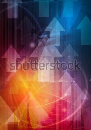 Resumen fresco olas luz fondo espacio Foto stock © ilolab
