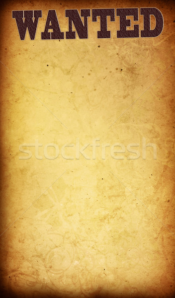 Wanted - vintage paper background stock photo © ilolab ...