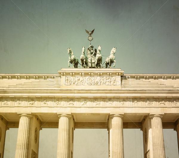 Retro Brandenburg Gate  Stock photo © ilolab