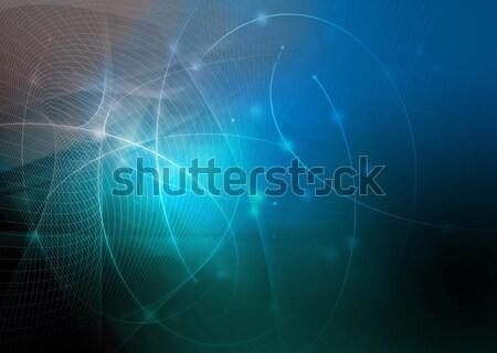 Résumé galaxie parfait espace technologie fond Photo stock © ilolab