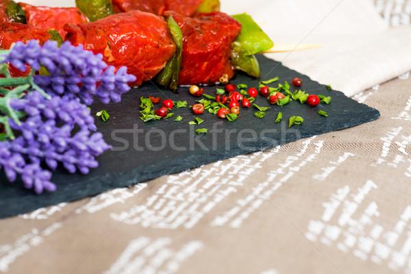 Saboroso carne legumes comida prato bife Foto stock © ilolab