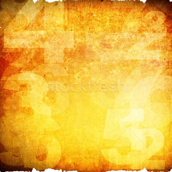 Retró stílus számok grunge stílus textúra fal Stock fotó © ilolab