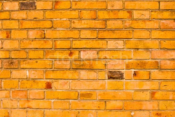 Stok fotoğraf: Eski · kırmızı · tuğla · duvar · arka · turuncu · dokular