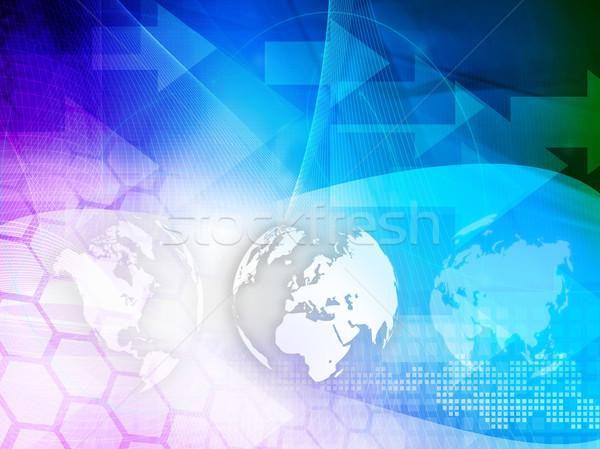Foto stock: Europa · mapa · tecnología · estilo · diseno
