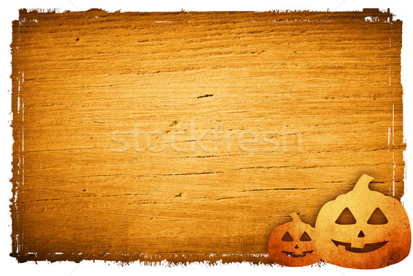 Halloween pompoenen pompoen vrienden gezicht abstract Stockfoto © ilolab