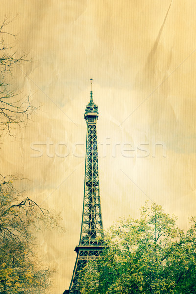 retro style Eiffel Tower Stock photo © ilolab
