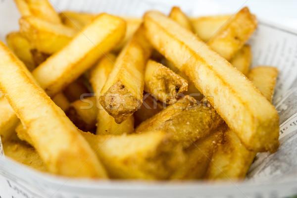 Altın patates kızartması patates hazır yeme Stok fotoğraf © ilolab