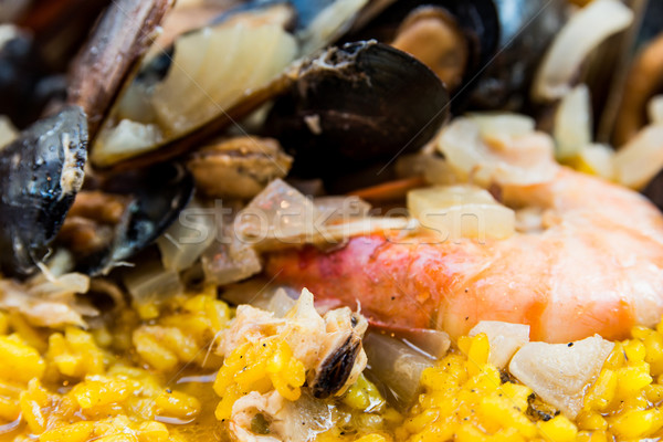 traditionnal spanish food paella Stock photo © ilolab