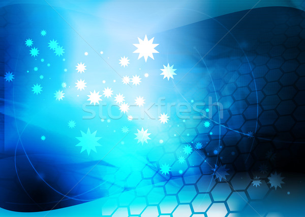 Abstrato legal ondas luz fundo espaço Foto stock © ilolab