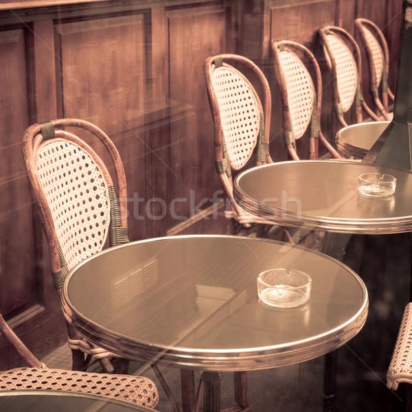 Vista de la calle café terraza fiesta restaurante mesa Foto stock © ilolab