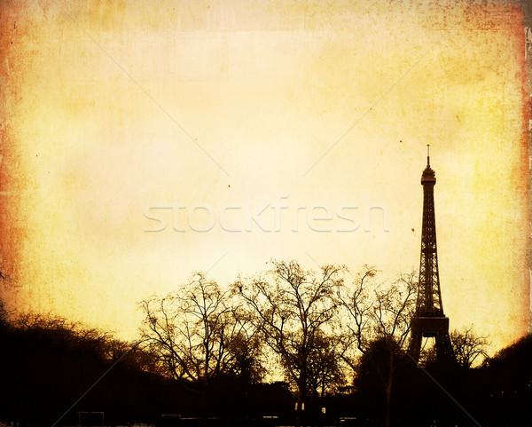 Párizsi utcák gyönyörű űr szöveg könyv Stock fotó © ilolab