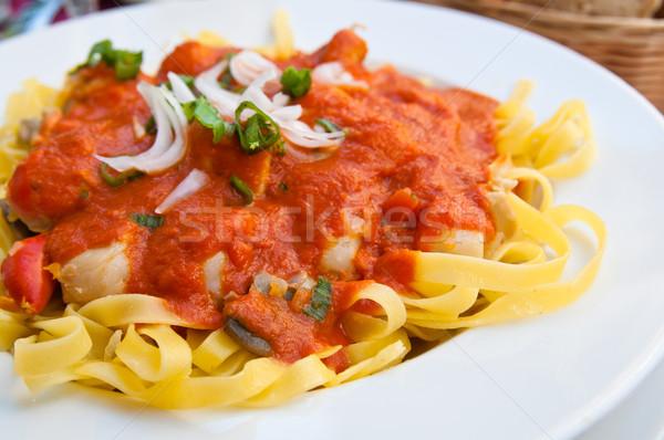 итальянский мяса соус таблице лист Сток-фото © ilolab