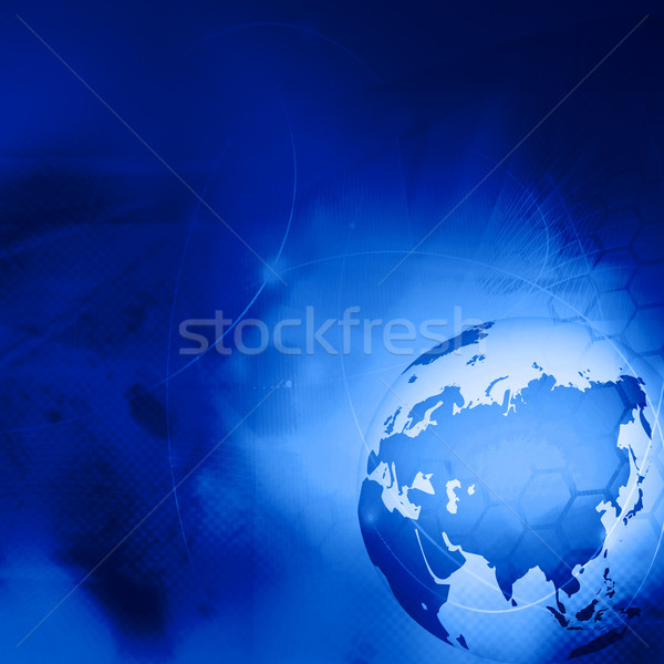 Asia kaart abstract technologie achtergrond Stockfoto © ilolab