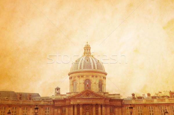 ストックフォト: 美しい · パリジャン · 通り · 市 · 背景 · 壁紙
