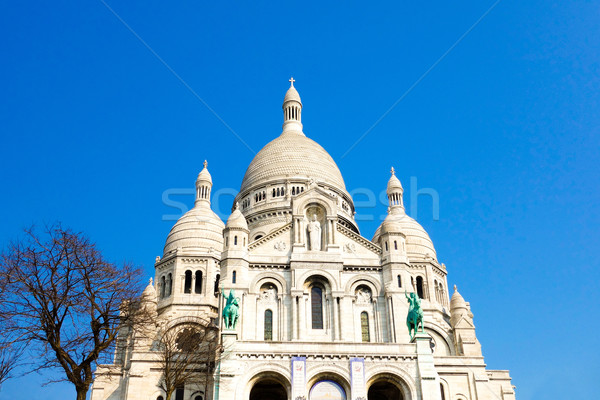 Kerk montmartre Blauw reizen aanbidden god Stockfoto © ilolab