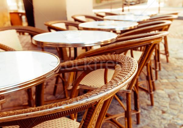 伝統的な パリジャン コーヒー ストリートビュー テラス レストラン ストックフォト © ilolab