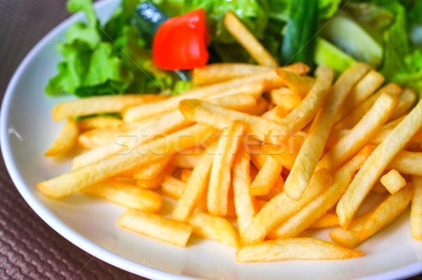 Or frites françaises pommes de terre prêt manger de pomme de terre Photo stock © ilolab