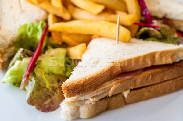 сэндвич куриные сыра картофель фри картофель Сток-фото © ilolab