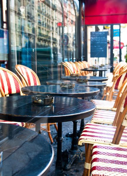 ストリートビュー カフェ テラス 空っぽ 建物 通り ストックフォト © ilolab