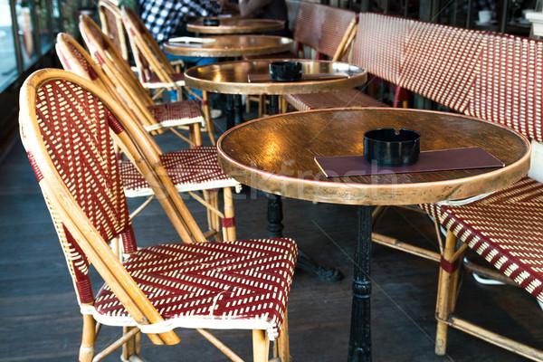 Hagyományos párizsi kávé buli épület utca Stock fotó © ilolab
