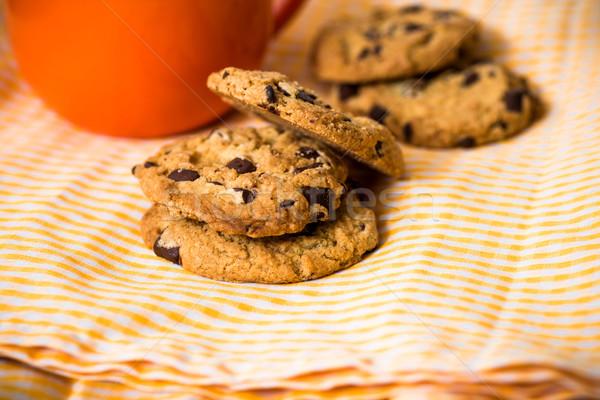 チョコレート チップ クッキー ドリンク 食品 ケーキ ストックフォト © ilolab