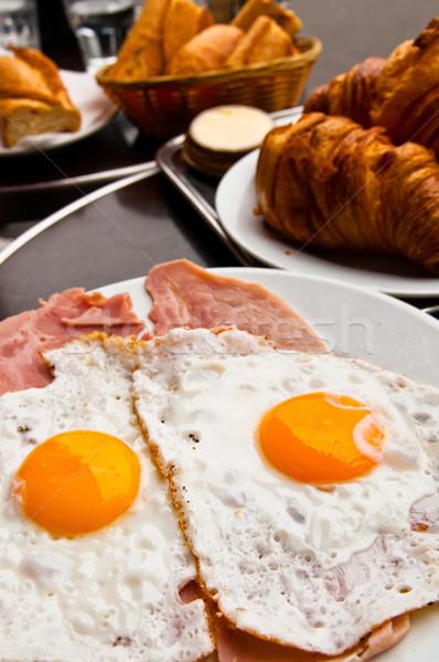 Preparato uovo sole pane bianco Foto d'archivio © ilolab