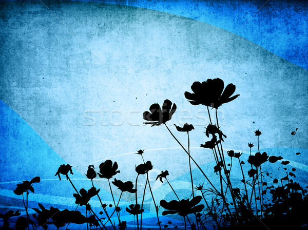 çiçek soyut stil dokular uzay Stok fotoğraf © ilolab